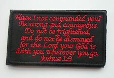 BIBLE QUOTES BIBLE SAYS MORALE BADGE PATCHES EMBROIDERED HOOK PATCH  sh  580