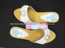 #TheBestSeller 50% OFF+FREE BAG! DISNEY PRINCESS WHITE SANDALS SHOES 35/8-10YO