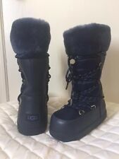 NEW $250 UGG WOMENS 'COTTRELL' WATERPROOF THINSULATE WINTER SNOW BOOTS -NAVY- 7
