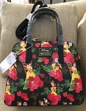 NWT DISNEY LOUNGEFLY BEAUTY AND THE BEAST BELLE PURSE SHOULDER BAG JUST RELEASED