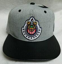 LAS CHIVAS RALLADAS DE GUADALAJARA MEXICO HAT 2 LOGOS HEATHER GRAY BLACK