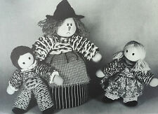 SEWING PATTERN Jean Greenhowe Hansel Gretel and the Wicked Witch Doll 26cm RARE