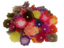 """12pcs. Crystal Hibiscus Flower Hair Clips-2""""-for babies-girls"""