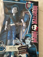 NEW MONSTER HIGH SCARE MESTER INVISI BILLY     6+  MATTEL