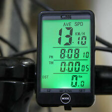 Wired Bike Bicycle Computer Odometer Speedometer Touch Button LCD Backlit OV