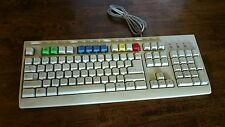 Vintage Mitsumi Computer Keyboard Model KFK-EA4XA RARE Colored Keys