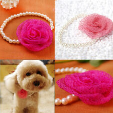 Dog Pet Jewelry Puppy Necklace Pendant Cat New Flower Pearl Collar
