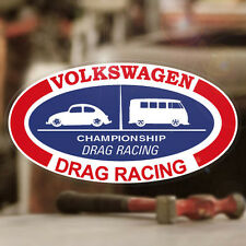 Volkswagen Drag Racing sticker decal vw beetle bus van bug aircooled 6""