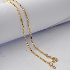 "20.5"" Womens beads collar necklace yellow Gold plated free shipping"