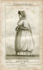 «Miss Ann Batley» engraving  publicado por Hogg en 1805 del libro Wonderful Muse