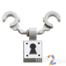 LEGO Handcuffs and Key Hole Lock from 76035 Jokerland