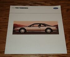 1990 Ford Thunderbird Deluxe Sales Brochure Supercoupe LX 90