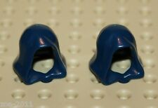 Lego 2x Dark Blue Minifig, Headgear Hood (30381) NEW!!!
