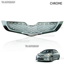 Net Chrome Front Grill Grille For Toyota Yaris 4Dr Sedan Vios Belta 2007-2012