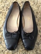 Chanel black flat ballerina shoes sz. 38
