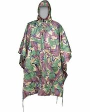 US ARMY STYLE PLAIN DPM WATERPROOF HOODED RIPSTOP COMBAT MILITARY  ARMY PONCHO