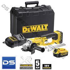 Smerigliatrice Dewalt DCG412P2 2 batterie 18v 5ah Litio garanzia 3 anni