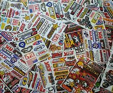 15 Mixed Sheets Random Stickers Motocross Car ATV Racing Dirt Bike Helmet Decal