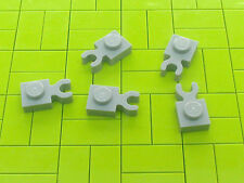 NEW LEGO BRICKS - 10 x LIGHT GREY 1x1 PLATE MODIFIED WITH VERTICAL CLIP 4085 -