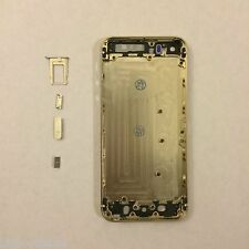 Gold Complete Housing Back Battery Door Cover & Mid Frame Assembly for iPhone 5S