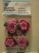 Martha Stewart flores de ganchillo y piedras preciosas pegatinas BNIP * Para ver *