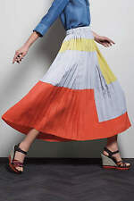 "NWT Anthropologie Pleated Maxi ""Field of Vision Skirt"" 6"