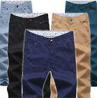 2015 NEW Men's Straight Slim Fit Trousers Business Casual Pants