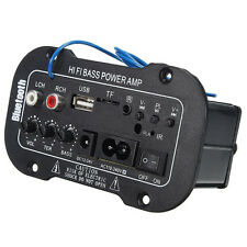 Bluetooth Car HiFi Amplifier Bass Power AMP Stereo Digital USB TF Remote 220V