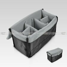 Insert Padded Camera Bag DSLR Inner Folding Divider Partition Protect Case Black