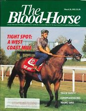 1992 The Blood-Horse Magazine #13: Tight Spot Wins West Coast Mile/Young Sires