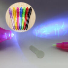 UV Light Pen Invisible Ink Security Marker With Ultra Violet LED Blacklight red