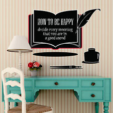Bedroom Wall Stickers Mural Decoration Family Chalkboard Paper Art Decal Book