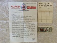 EDIS RACCOLTA FIGURINE CALCIATORI 1969/70 DOLLARO GRUPPO MUSICALE LETTERA SCHEDA