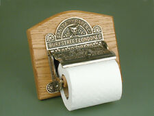 Antique Nickel Bury Street London Toilet Roll Holder