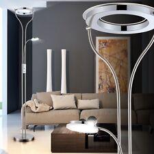 22,5W LED Decken Fluter Leselampe drehbar Chrom Stehlampe Wohnzimmer Diele Büro