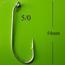 BULK 100 DFS 5/0 GANG FISHING HOOKS, tinned, chemically sharp, tackle