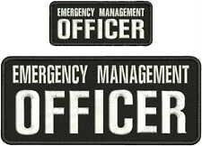 EMERGENCY MANAGEMENT OFFICER EMBROIDERYPatch 4x10 and 2x5 hook on backBLK/WHITE