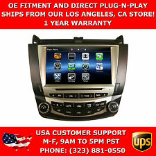OE Fitment In Dash Navigation GPS Dual Climate Radio for 2003-2007 Honda Accord