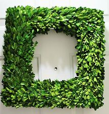 "NEW 20""  Preserved  Boxwood SQUARE 20"" wreath Beautiful Home Door Wreath"