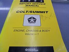 1994 Import Dodge Colt Plymouth Summit Engine Chassis Body Dealer Service Manual