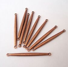 10pcs- Bar Link Connector Antique Copper Alloy 40x3mm