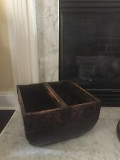 Antique Vintage Asian Wooden Rice Bucket Basket Home Decor Free Shipping