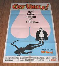 CRY UNCLE Alen Garfield DETECTIVE SEX COMEDY 1971 – Original Movie Poster