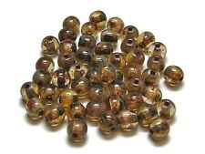 4mm Crystal Picasso Czech Glass Smooth Round Druk Beads (50) #3903