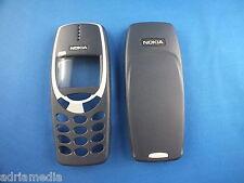 ORIGINALE Nokia Front Back Guscio superiore cover 3310 3330 Chassis Cover Posteriore Blu Nuovo