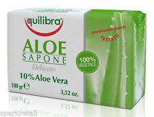 Equilibra Aloe Sapone 10% Aloe Vera SOAP BAR 100g 100% Vegetable Base
