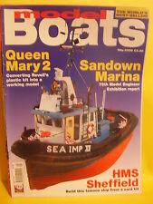 MODEL BOATS MAY 2006 HMS SHEFFIELD SEA IMP XII QUEEN MARY 2 ROBERT MILLAR
