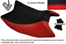 RED & BLACK CUSTOM FITS DERBI GPR 125 50 SIDE EXHAUST 07-13  FRONT SEAT COVER