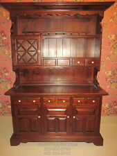 Ethan Allen Antiqued Old Tavern Pine China Hutch Cabinet 12 6029