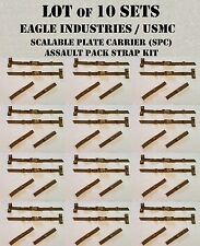 EAGLE USMC ILBE STRAP BUCKLE ADAPTER CUMMERBUND STAY COYOTE TAN MOLLE LOT of 10